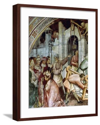 The Foundation of City of Alexandria, Detail of Fresco History of Pope Alexander III, 1407-Spinello Aretino-Framed Art Print