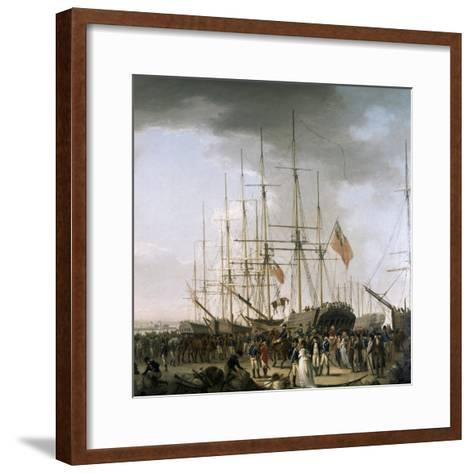 Cavalry Embarking at Blackwall, Near Greenwich, April 24, 1793-William Anderson-Framed Art Print