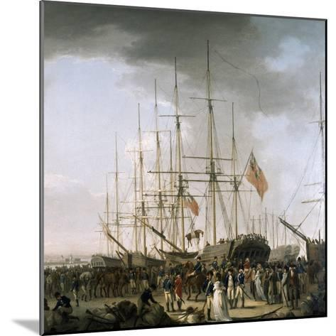 Cavalry Embarking at Blackwall, Near Greenwich, April 24, 1793-William Anderson-Mounted Giclee Print