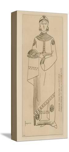Princesse Italo-Romaine. Fin Du Viiie Siecle. Mosaique De La Basilique Ste Cecile-Raphael Jacquemin-Stretched Canvas Print