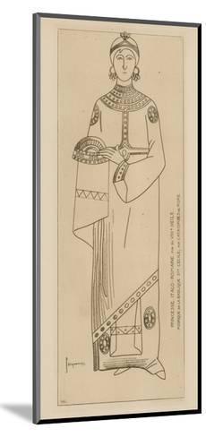Princesse Italo-Romaine. Fin Du Viiie Siecle. Mosaique De La Basilique Ste Cecile-Raphael Jacquemin-Mounted Giclee Print