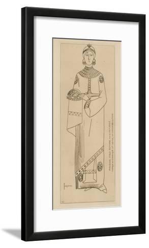 Princesse Italo-Romaine. Fin Du Viiie Siecle. Mosaique De La Basilique Ste Cecile-Raphael Jacquemin-Framed Art Print