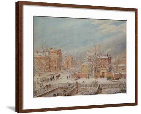 Marylebone Road at the Junction with Lisson Grove and Stingo Lane-T. Paul Fisher-Framed Art Print