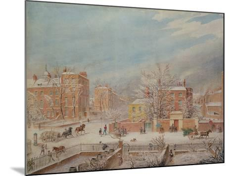 Marylebone Road at the Junction with Lisson Grove and Stingo Lane-T. Paul Fisher-Mounted Giclee Print