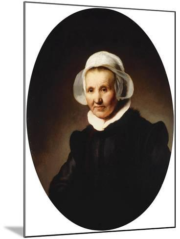 Portrait of a Lady-Rembrandt van Rijn-Mounted Giclee Print