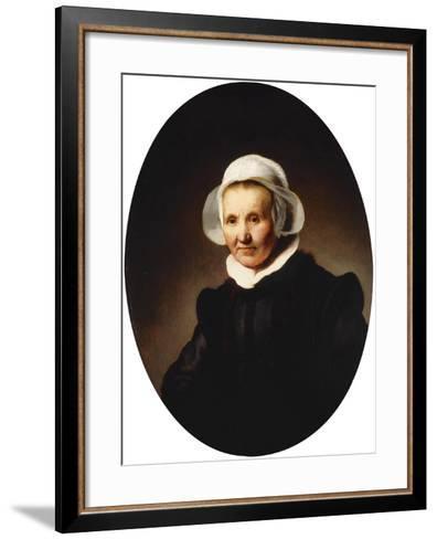Portrait of a Lady-Rembrandt van Rijn-Framed Art Print