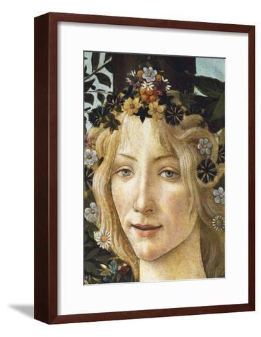 The Face of Flora, Detail of the Allegory of Spring, Circa 1477-1490-Sandro Botticelli-Framed Art Print