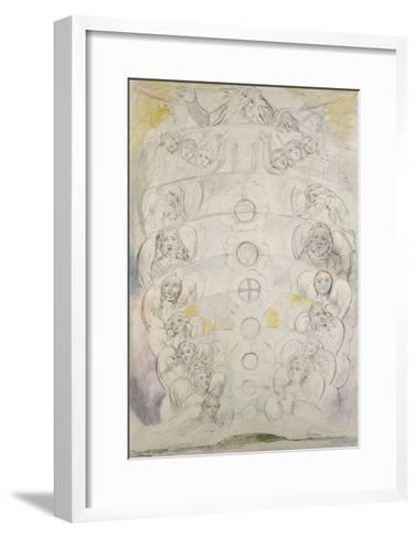The Deity, from Whom Proceed the Nine Spheres, Illustration to the 'Divine Comedy', Paradiso-William Blake-Framed Art Print