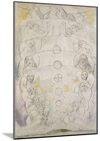 The Deity, from Whom Proceed the Nine Spheres, Illustration to the 'Divine Comedy', Paradiso-William Blake-Mounted Giclee Print
