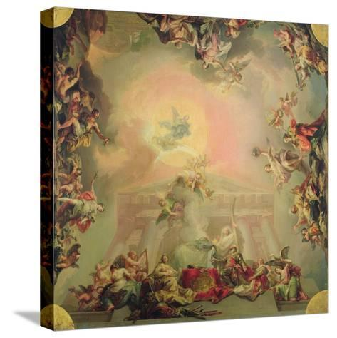 Sketch for a Ceiling Painting: the Institution of the Order of St Charles III-Vicente Lopez y Portana-Stretched Canvas Print