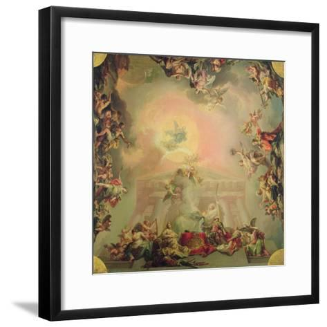 Sketch for a Ceiling Painting: the Institution of the Order of St Charles III-Vicente Lopez y Portana-Framed Art Print