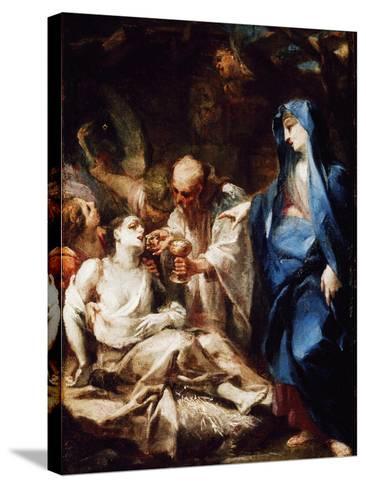 The Virgin Mary Sending the Viaticum to a Devotee-Pietro Antonio Magatti-Stretched Canvas Print
