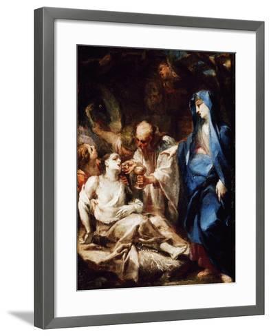 The Virgin Mary Sending the Viaticum to a Devotee-Pietro Antonio Magatti-Framed Art Print