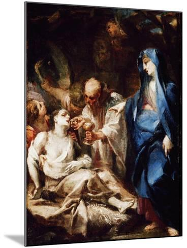 The Virgin Mary Sending the Viaticum to a Devotee-Pietro Antonio Magatti-Mounted Giclee Print