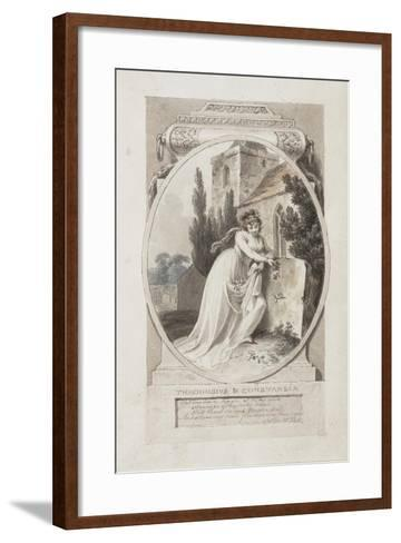 Theodosius and Constansia'-Richard Corbould-Framed Art Print