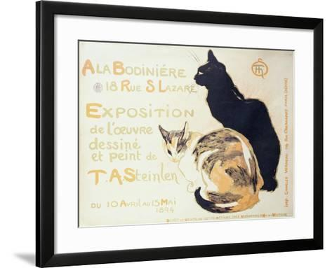 Exposition a La Bodiniere..., Poster Advertising an Exhibition of New Work, 1894-Th?ophile Alexandre Steinlen-Framed Art Print