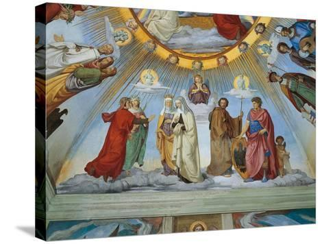 Dante and Beatrice Speak to Piccarda and Constance-Philipp Veit-Stretched Canvas Print