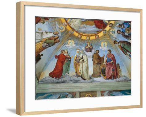 Dante and Beatrice Speak to Piccarda and Constance-Philipp Veit-Framed Art Print