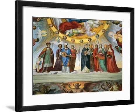 Dante and Beatrice Speak to the Teachers of Wisdom-Philipp Veit-Framed Art Print