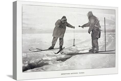Improvised Sounding Tackle-Roald Amundsen-Stretched Canvas Print