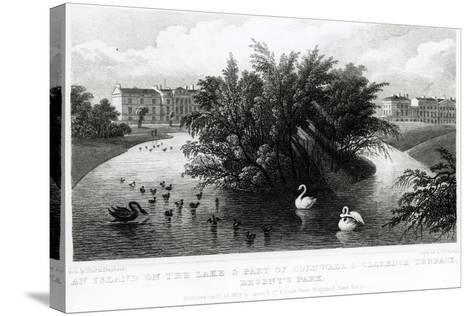 An Island on the Lake and Part of Cornwall and Clarence Terrace, Regent's Park-Thomas Hosmer Shepherd-Stretched Canvas Print