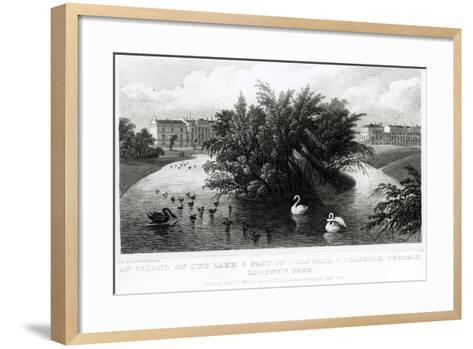 An Island on the Lake and Part of Cornwall and Clarence Terrace, Regent's Park-Thomas Hosmer Shepherd-Framed Art Print