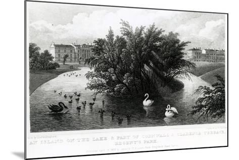 An Island on the Lake and Part of Cornwall and Clarence Terrace, Regent's Park-Thomas Hosmer Shepherd-Mounted Giclee Print