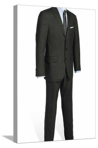 Two-Piece Serge Suit with Light Blue Rope-Stripe, Worn by Daniel Craig in the Film 'Skyfall', 2012--Stretched Canvas Print
