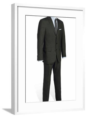 Two-Piece Serge Suit with Light Blue Rope-Stripe, Worn by Daniel Craig in the Film 'Skyfall', 2012--Framed Art Print