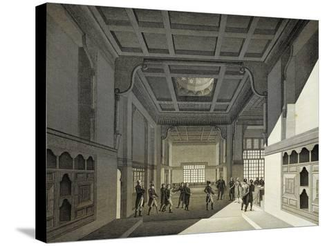 First Meeting of Institute of Egypt in Former House of Hasan Kachef in Cairo in 1798-Vivant Denon-Stretched Canvas Print
