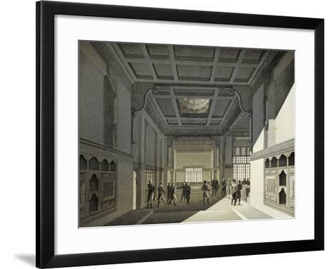First Meeting of Institute of Egypt in Former House of Hasan Kachef in Cairo in 1798-Vivant Denon-Framed Art Print