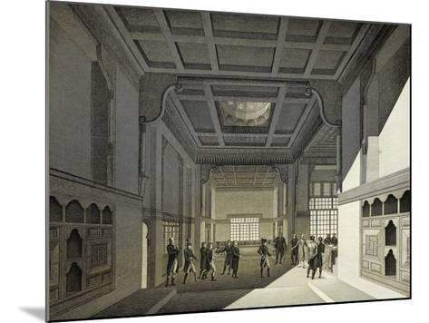 First Meeting of Institute of Egypt in Former House of Hasan Kachef in Cairo in 1798-Vivant Denon-Mounted Giclee Print