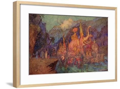 The Return of the Heroes Slain in the Battle of Eighteen Days-Warwick Goble-Framed Art Print