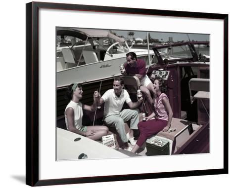 Who Needs to Leave the Dock When There's Beer on Board? the Boaters' Beverage--Framed Art Print