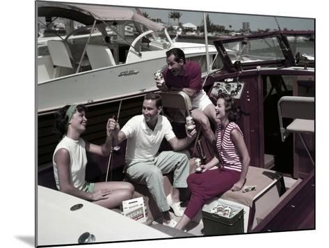Who Needs to Leave the Dock When There's Beer on Board? the Boaters' Beverage--Mounted Photographic Print