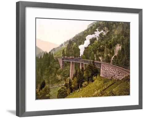 Train Crossing the Ravenna Viaduct of the Hollental Railway in the Ravenna Gorge--Framed Art Print