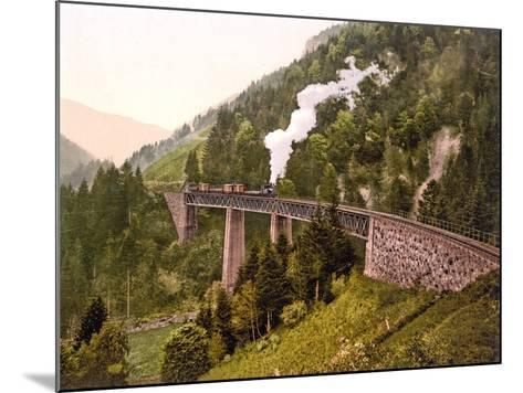 Train Crossing the Ravenna Viaduct of the Hollental Railway in the Ravenna Gorge--Mounted Photographic Print