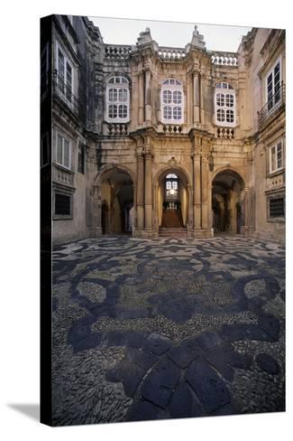 Italy, Siracusa, Ortigia Island, View of Facade of Palazzo Beneventano Del Bosco--Stretched Canvas Print