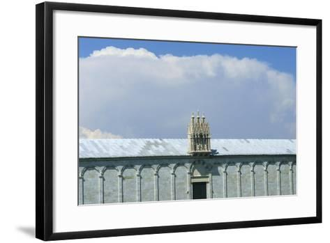 Gothic Tabernacle Containing Statues of the Virgin and Child with Four Saints--Framed Art Print
