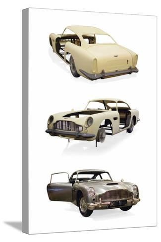 Post-Production 1/3 Scale Replica Miniature Model of the Aston Martin DD5 Used in 'Skyfall'--Stretched Canvas Print