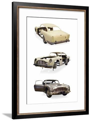 Post-Production 1/3 Scale Replica Miniature Model of the Aston Martin DD5 Used in 'Skyfall'--Framed Art Print