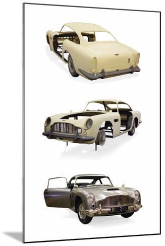 Post-Production 1/3 Scale Replica Miniature Model of the Aston Martin DD5 Used in 'Skyfall'--Mounted Photographic Print