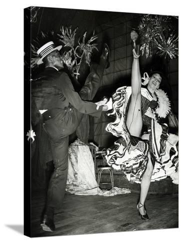 Katherine Dunham and Vanoye Aikens Dancing the 'Cakewalk' at the Cambridge Theatre--Stretched Canvas Print