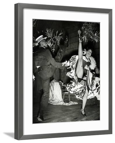 Katherine Dunham and Vanoye Aikens Dancing the 'Cakewalk' at the Cambridge Theatre--Framed Art Print