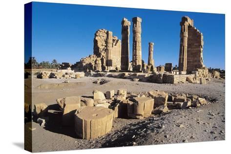 Ruins of Temple of Soleb, Commissioned by Pharaoh Amenhotep III, Nubia, Sudan--Stretched Canvas Print