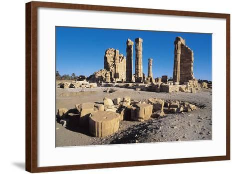 Ruins of Temple of Soleb, Commissioned by Pharaoh Amenhotep III, Nubia, Sudan--Framed Art Print