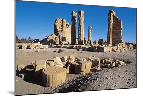 Ruins of Temple of Soleb, Commissioned by Pharaoh Amenhotep III, Nubia, Sudan--Mounted Giclee Print