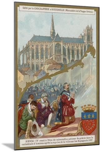 Henry IV of France Praying in Amiens Cathedral after the Recapture of the City from the Spanish--Mounted Giclee Print