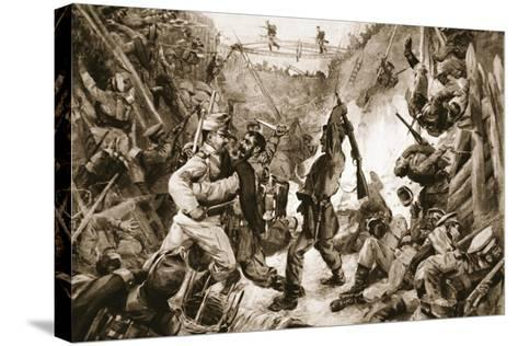 An Episode in the Long Struggle for Przemysl: Hand-To-Hand Fighting in a Trench--Stretched Canvas Print