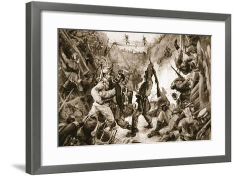 An Episode in the Long Struggle for Przemysl: Hand-To-Hand Fighting in a Trench--Framed Art Print